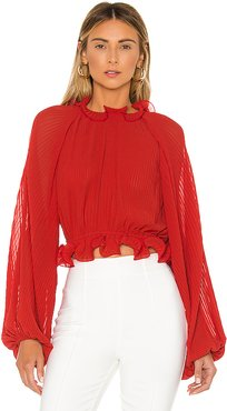 Longevity Blouse in Red. - size XS (also in M)