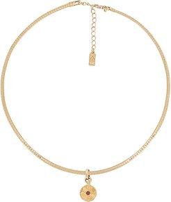 Earth Cane Necklace in Metallic Gold. (also in April,August,December,February,July,June,March,May,November,October)