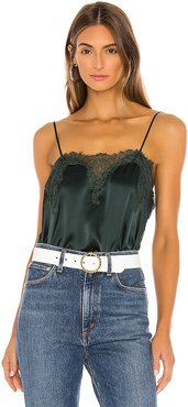 The Sweetheart Charmeuse Cami in Dark Green. - size L (also in M,S,XS)