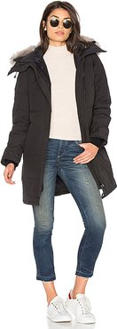 Shelburne Parka With Coyote Fur Trim in Black. - size M (also in S,XS)