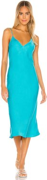 X REVOLVE Vaea Slip Dress in Blue. - size XS (also in M,S)