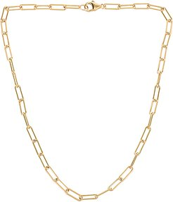 Link Chain Necklace in Metallic Gold.