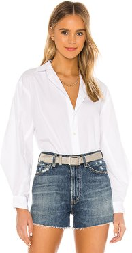 Marisa Lantern Sleeve Shirt in White. - size M (also in L,S,XS)