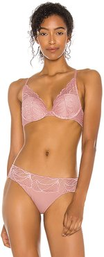 Perfectly Fit Iris Lace Lightly Lined Bra in Blush. - size 34C (also in 32B,32C,32D,34B,34D,36C)