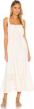 Orson Midi Dress in Ivory. - size XS (also in L,M,S)