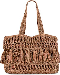 Swoon Tote in Brown,Rose.