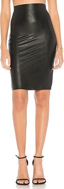 Perfect Pencil Faux Leather Skirt in Black. - size L (also in S,M)