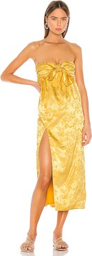 Lucia Dress in Yellow. - size XL (also in L,M,S,XS)