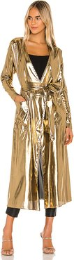 Angelica Robe in Metallic Gold. - size S (also in XS)