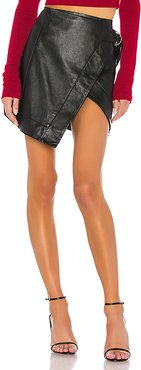 Madeline Leather Mini Skirt in Black. - size M (also in S,XL,XS,XXS)