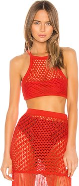 Ipanema Crochet Top in Red. - size M (also in L,S,XL,XS,XXS)