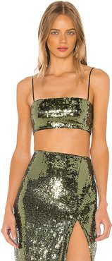 Ava Crop Top in Olive. - size M (also in XXS,L,XL)