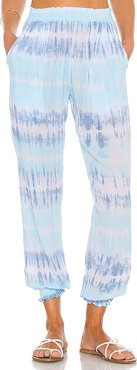 Bodrum Tie Dye Pant in Blue. - size L (also in M,S,XS)