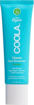 Classic Face Organic Sunscreen Lotion SPF 30 in Cucumber.