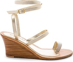 Riaci Wedge Sandal in Metallic Gold. - size 39 (also in 38)