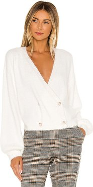 Mika Double Breasted Cardigan in Ivory. - size XS (also in S)
