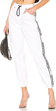 Track Pant in White. - size M (also in L)