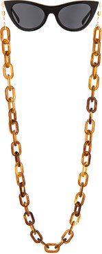 Acetate Sunny Chain in Brown.