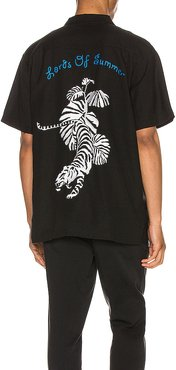Hawaiian Shirt in Black. - size M (also in L,S,XS)