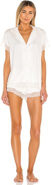 Malou Lace PJ Set in White. - size M (also in L,S)
