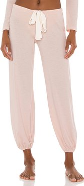 Heather Cropped Pant in Pink. - size M (also in L,S)