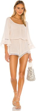 Summer Of Love Rosalie Romper in Cream. - size L (also in M,S)