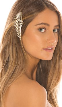 Bowers Hair Comb in Metallic Gold.