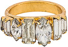 Ramsey Ring in Metallic Gold. - size 6 (also in 7)