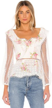 Love Top in White. - size M (also in L,S,XS)