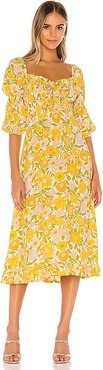 Nora Midi Dress in Yellow. - size XS (also in S)