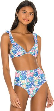 Chaumont Bikini Top in Blue. - size M (also in XS,S)