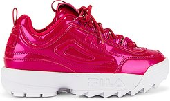 Disruptor II Liquid Luster Sneaker in Red. - size 7 (also in 8)