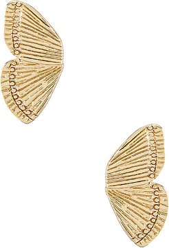 Dani Earrings in Metallic Gold.