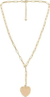 Tinley Necklace in Metallic Gold.