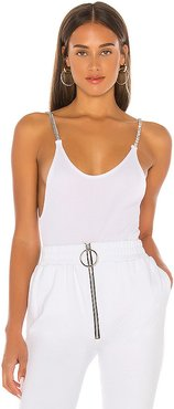 x miss Alaina Bodysuit in White. - size XS (also in S)