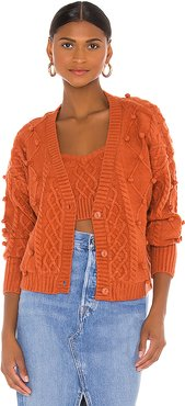 Florentina Button Down Cardigan in Burnt Orange. - size XS (also in S,M,L)