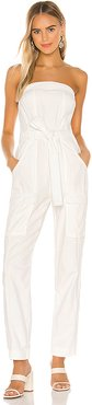 Go West Utility Jumpsuit in Ivory. - size M (also in L,S,XS)