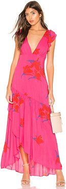 She's A Waterfall Maxi Dress in Pink. - size 2 (also in 0,4)