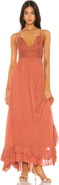 Adella Maxi Dress in Orange. - size S (also in M,XS)