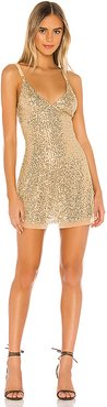 Gold Rush Mini Dress in Metallic Gold. - size XL (also in L,M,S,XS)