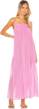 On My Own Maxi Slip Dress in Fuchsia. - size XS (also in M,S)