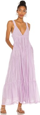 Frankie Pintuck Maxi Dress in Lavender. - size L (also in S,M)