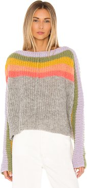 See The Rainbow Sweater in Gray. - size XS (also in L,M,S)
