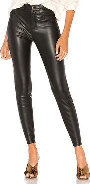 Vegan High Rise Long & Lean Pant in Black. - size 28 (also in 24)