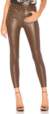 Vegan High Rise Pant in Chocolate. - size 25 (also in 24)
