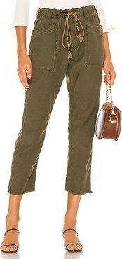 Drawn Up Boyfriend Pant in Green. - size M (also in L,S,XS)