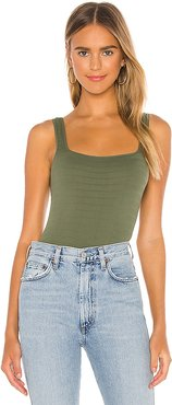 Square One Tank in Olive. - size M/L (also in XS/S)