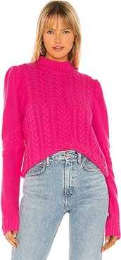 Isabella Cable Knit Sweater in Pink. - size L (also in XS,S)