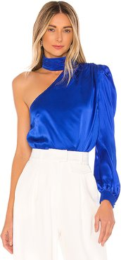 Rosario Blouse in Royal. - size XS (also in S)