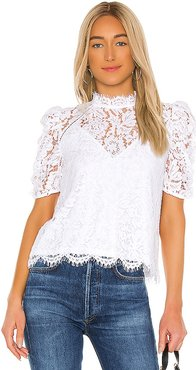 Regina Lace Blouse in White. - size S (also in L,M,XS)